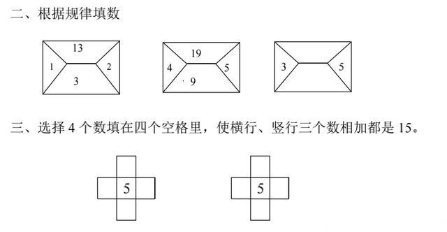 一年级数学《找规律》,例题讲解,精选习题,看完就会