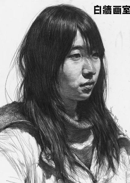 杭州知名画室纯干货,女青年素描头像详细步骤解析