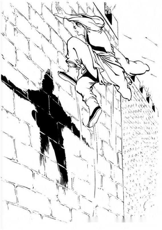 姜云行先生在《射雕侠侣》中所配的插图,在我看来是射雕三部曲中最次