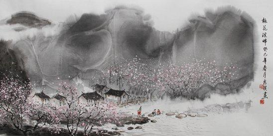 作品创作背景:山水画将就意境,正所谓有了境界的高度,才有艺术的高格