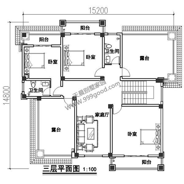 一层别墅设计:门厅,客厅,卧室,厨房,餐厅,卫生间,楼梯,车库,花池