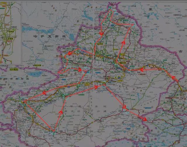 新疆旅游超级大环线自驾游路线攻略