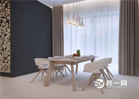 230平简约北欧风装修效果图 开放式厨房吧台设计