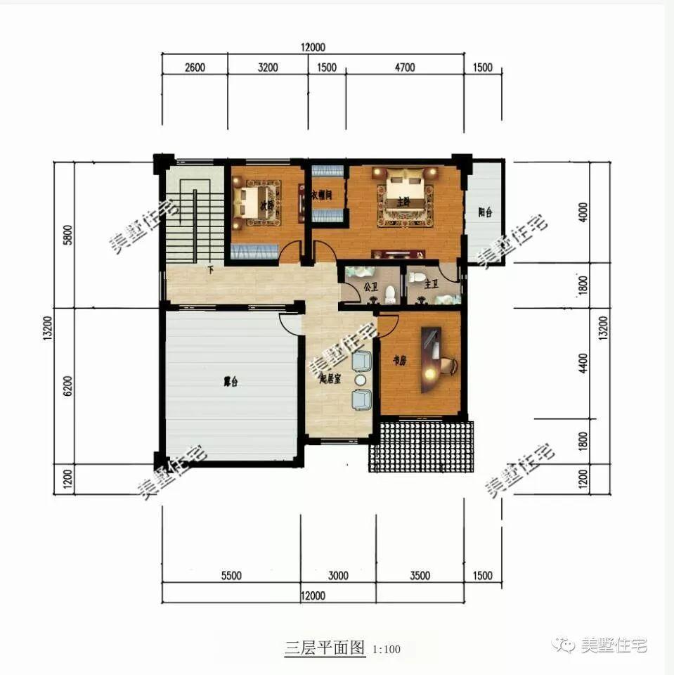 12x13.2米三層農村自建房, 比城里的別墅都美