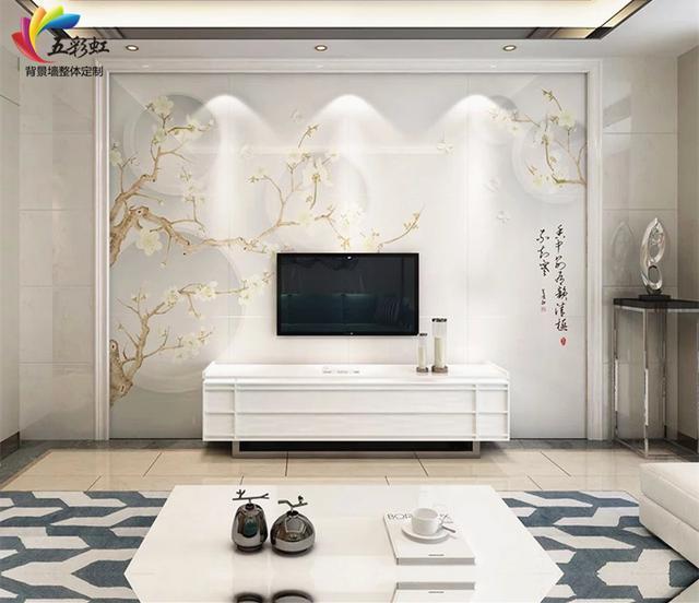 新中式电视背景墙哪款好看? 含蓄秀美, 雅中见灵!图片