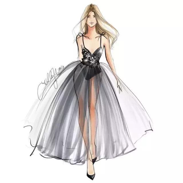 礼服手绘服装设计图展示
