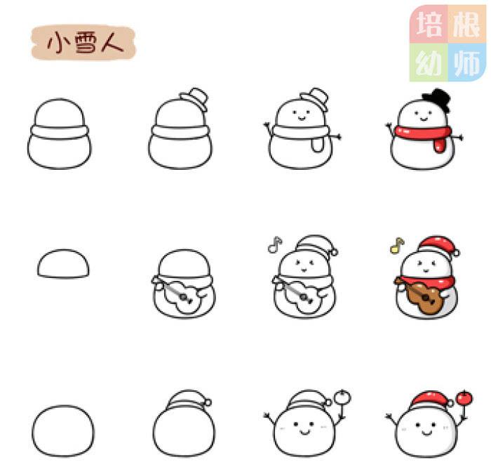 5.雪花简笔画