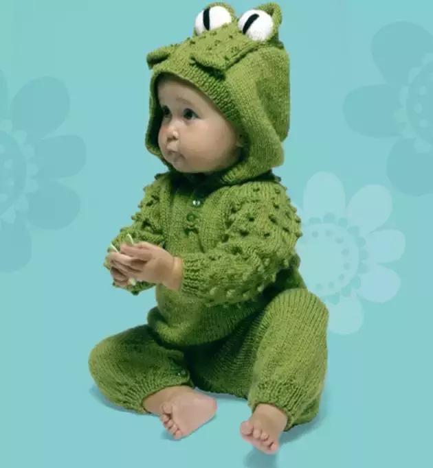 「旅行青蛙」为你的蛙儿子织一件温暖的连体裤(附图解) 时尚潮流 第1张