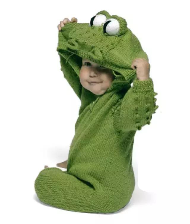 「旅行青蛙」为你的蛙儿子织一件温暖的连体裤(附图解) 时尚潮流 第2张