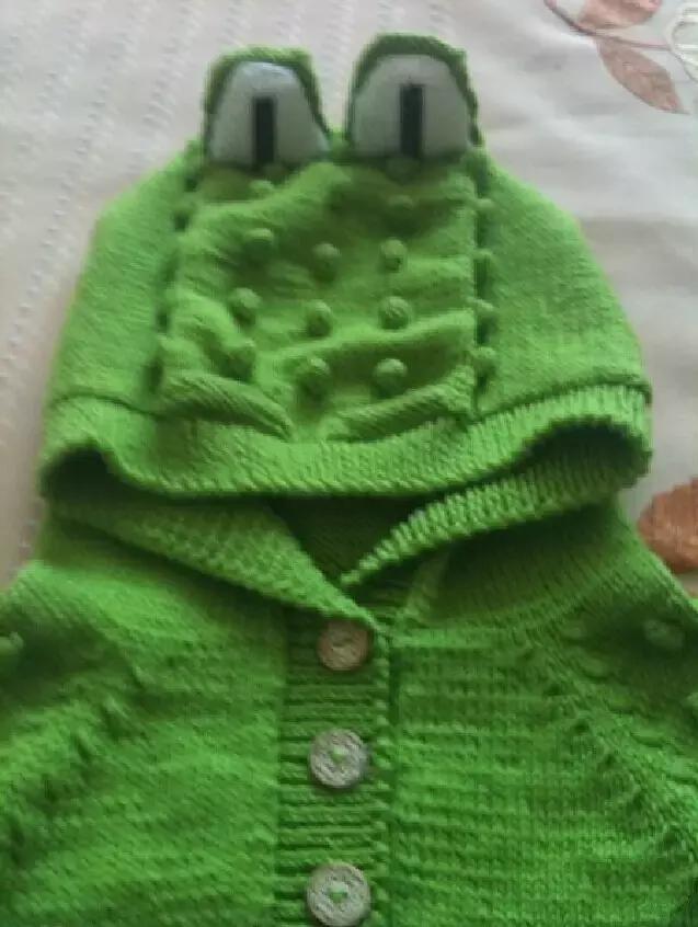 「旅行青蛙」为你的蛙儿子织一件温暖的连体裤(附图解) 时尚潮流 第8张
