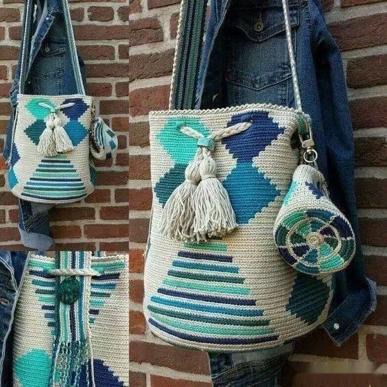 「钩针包」漂亮的间色水桶包,钩出不一样的风景~(有图解) 时尚潮流 第2张