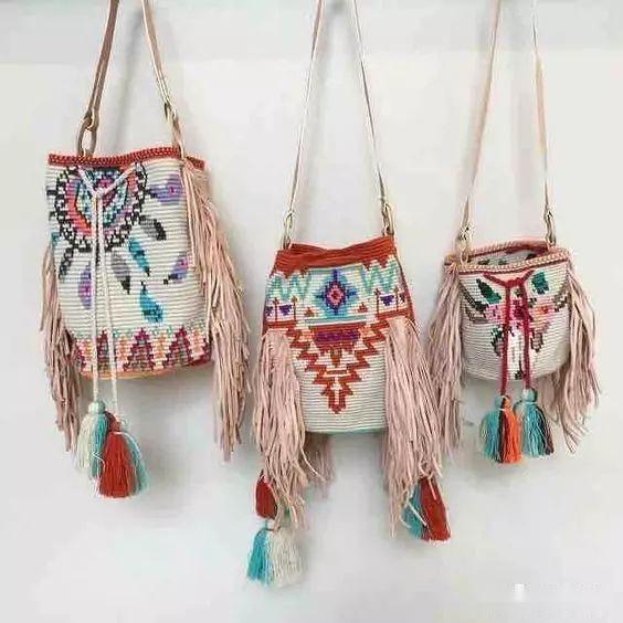 「钩针包」漂亮的间色水桶包,钩出不一样的风景~(有图解) 时尚潮流 第3张