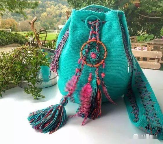 「钩针包」漂亮的间色水桶包,钩出不一样的风景~(有图解) 时尚潮流 第6张