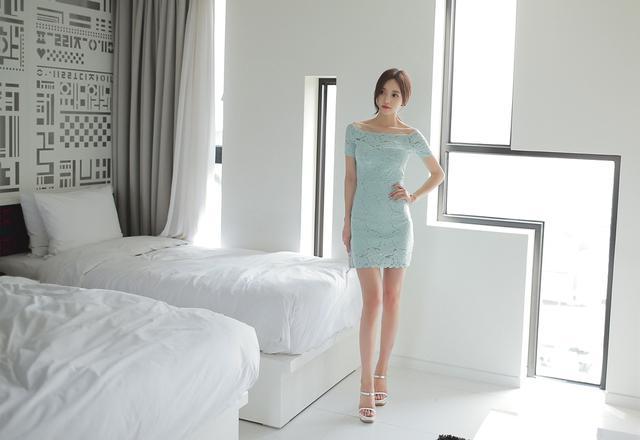 韩国小姐姐包臀连体衣酒店性感写真 养眼图片 第6张
