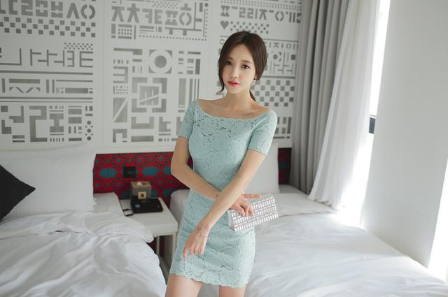 韩国小姐姐包臀连体衣酒店性感写真 养眼图片 第2张