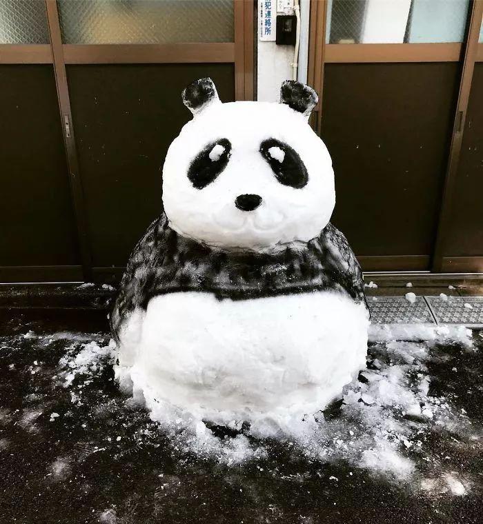 杭州保安下雪天堆出个动物园 网友:地域限制了才华 网络热点 第41张